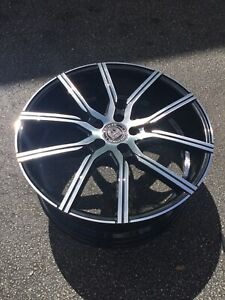 20x8 5 Lexani css 5 Machined Face Gloss Black Aftermarket Alloy Wheel new
