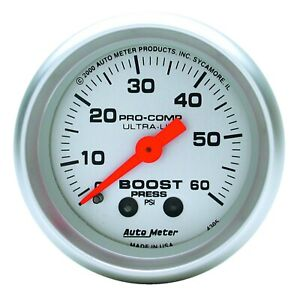 Autometer Gauge Boost 2 1 16 60psi Mechanical Ultra lite