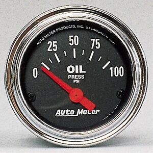 Autometer Gauge Oil Pressure 2 1 16 100psi Electric Traditional Chrome