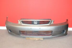 Jdm 1999 2000 Honda Civic Oem Silver Front Bumper With Grille