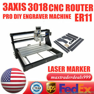 3 Axis Cnc 3018 Pro Engraver Machine For Pcb Wood Carving Diy Milling Router Kit