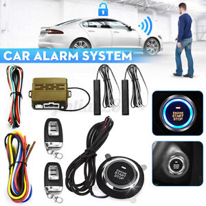 Universal Car Alarm System Engine Start Push Button Remote Starter Keyless Entry