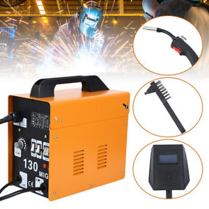 130 Mig Electric Welder Welding Machine 110v Gas Less Flux Core Wire With Mask