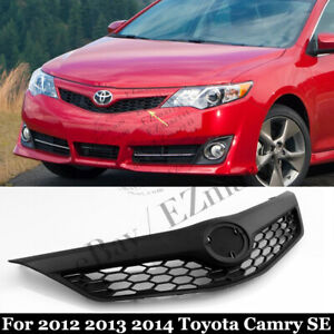 Front Bumper Honeycomb Grille For 2012 2013 2014 Toyota Camry Se Model Black