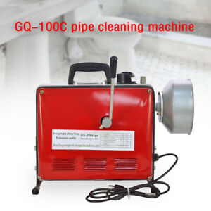 3 4 6 Pipe Drain Auger Cleaning Machine Snake Sewer Clog Gq 100 500 W Sale
