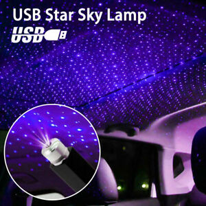 Usb Car Interior Atmosphere Star Sky Lamp Ambient Star Light Led Projector Us