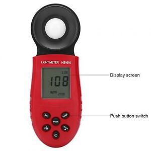 Light Meter Hs1010 Compact Electric Illuminometer Office For Home Photographer