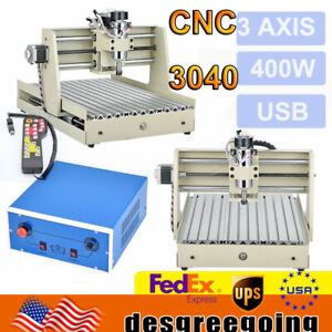Usb 3040 Cnc 3 Axis Router 400w Vfd Engraver Milling Carving Machine Controller