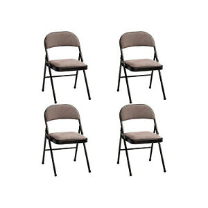 Meco 4 pack Corrin Fabric Padded Folding Chairs With 16x16 Inch Seat open Box