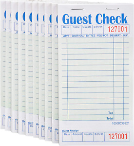 Stock Your Home Guest Check Book 10 Books 3 5 X 6 75 Server Note Pads And Wa