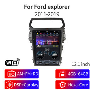 For 2019 Ford Explorer Gps Navigation System Headunit Radio Stereo Android Os
