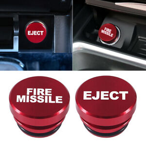 Universal Fire Missile Eject Button Car Cigarette Lighter Cover Car Accessories