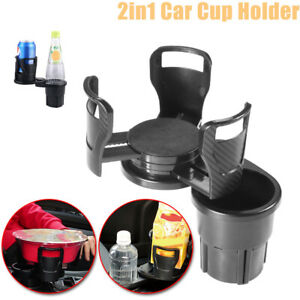 2in1 Multifunction Cup Holders Universal Drink Bottle 360 adjustable For Car