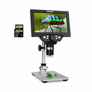 Tomlov 7 Lcd Digital Microscope 50 1200x Magnification With 32gb Sd Card 10