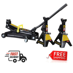 2 1 4 Ton Professional Hydraulic Floor Jack Car 2 Heavy Duty Jack Stand Portable