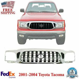 Front Grille Chrome With Emblem Provision For 2001 2004 Toyota Tacoma 4wd