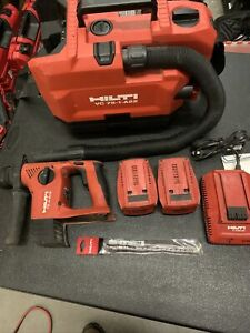 Hilti Cordless Vac Vc 75 1 a22 And Te 4 a18 Roto W 2 5 2 Batteries charger