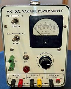 The Welch Scientific Company Ac Dc Variable Power Supply