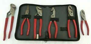 Mac Tools Lot Of 6 Pliers Slip Joint Linemans Needle Nose