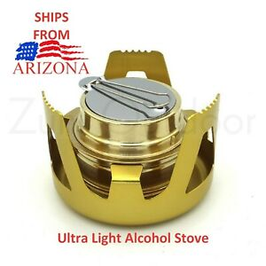 Outdoor Mini Portable Alcohol Stove Burner For Backpacking Hiking Ships Arizona