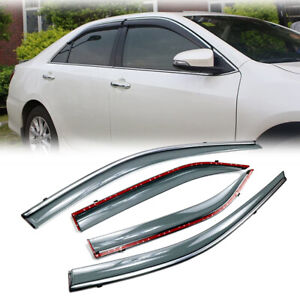 For Toyota Camry 2012 2017 Window Vent Visors Rain Guards Deflector Smoke Tinted Fits 2014 Camry Se
