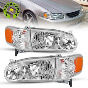 Fit For 2001 2002 Toyota Corolla Headlights Assembly Headlamp Corner Signal Lamp
