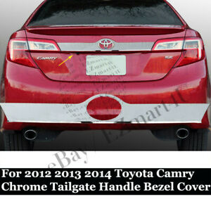 For 2012 2013 2014 Toyota Camry Chrome Tailgate Trunk Lift Handle Bezel Cover