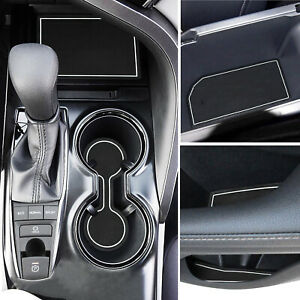 For 18 20 Toyota Camry Cup Holder Console Door Pocket Inserts Liner Accessories