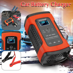 Automatic Pulse Battery Charger Maintainer Repair 12v 5a Motorcycle Agm Boat Car