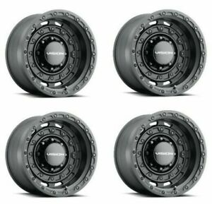 Set 4 17 Vision 403 Tactical Satin Black Wheel 17x10 5 8x6 5 25mm Lifted Truck