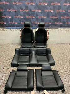 2014 Ford Mustang Gt Oem Black Leather Front Rear Seats blown Bags