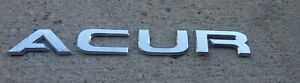 Acura Trunk Emblem Letters Badge Decal Logo Chrome Rear Oem Genuine Stock Rsx