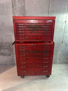 Vintage Mac Tools Toolbox Rolling Chest Mb900 mb920 Combo