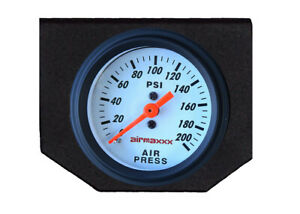 Air Bag Suspension Dual Needle White Air Gauge Panel Display 200 Psi No Switch