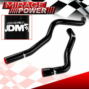 Silicone Radiator High Temperature Hoses Black For 1971 1988 Chevy Small Block