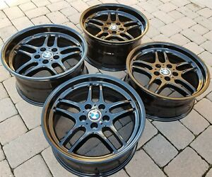 Bmw E38 E31 Oem Mpar M Parallel 18x9 5 8 Style 37 Forged Wet Black Wheels Rims