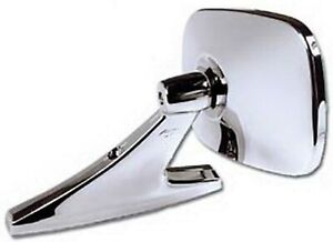 Universal Oblong Chrome Car Side Mirror For Greater Visibility Easy Installation