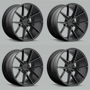 Set 4 18 Niche M117 Misano 18x8 Matte Black 5x120 Wheels 40mm Rims