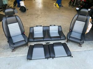 2007 Mustang Gt 4 6l Oem Set Of Black Gray Leather Seats Read Notes