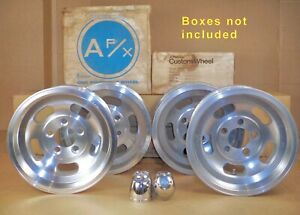 4 Vintage Slot Mag Wheels Ctr Caps A F X Nos 14x7 5 Bolt X 4 5 Or 4 75 17mm