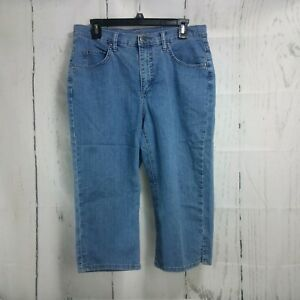 Riders By Lee 12M Blue Capri Split Sides Jeans 30 X 18 $18.04