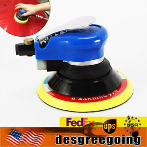 6 Inch Air Palm Orbital Sander Random Hand Sanding Pneumatic Polisher 10000 Rpm