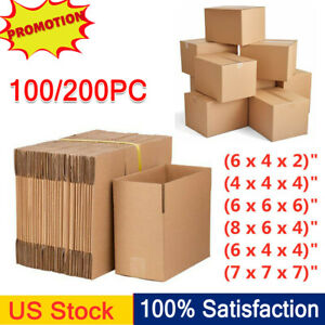100 200pc Mixed Sized Packing Shipping Mailing Paper Boxes Corrugated Carton New