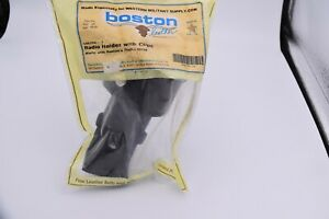 Boston Radio Holder With Clips 5487rc 1 Black Leather