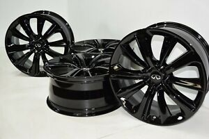 20 infiniti Q60 Q50 M56 Factory Oem Rims Wheels Black Infinity Square