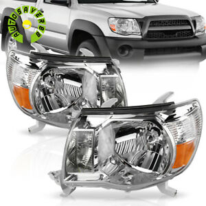 For 2005 2011 Toyota Tacoma Headlights Headlamps 05 06 07 08 09 10 11 Pair Lamps