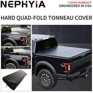 For 2009 2021 Dodge Ram 1500 Hard Quad fold Tonneau Cover 5 6ft 67 2in Truck Bed