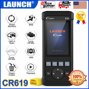 Launch Car Code Reader Airbag Scan Diagnostic Tool Abs Reset Engine Test Scanner