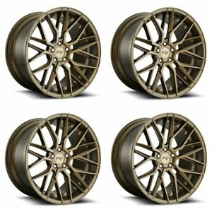 Set 4 20 Niche M191 Gamma 20x9 Matte Bronze 5x120 Wheels 35mm Rims