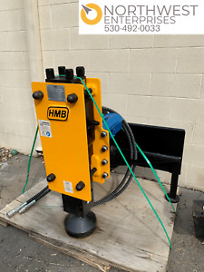 Skid Steer Hmb680 Hydraulic Fence Post Hole Driver Attachment Brand New